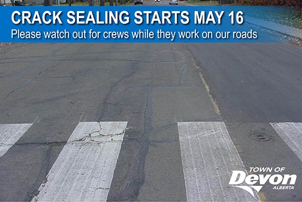 Town-wide crack sealing starts May 16
